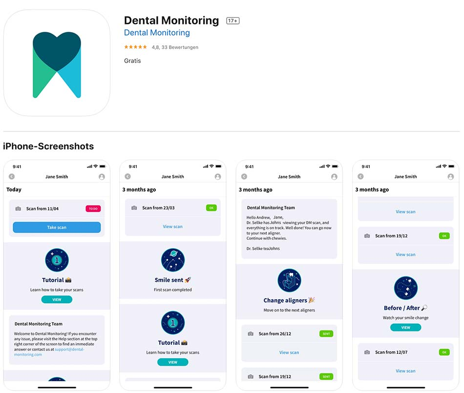 App IOS Dental Monitoring